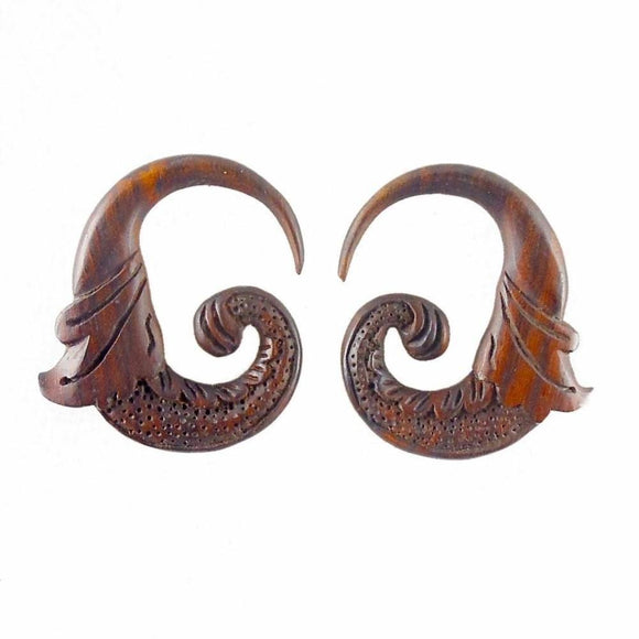 Wood Jewelry | Nectar Bird. 4 gauge Sono Wood Earrings. 1 3/4