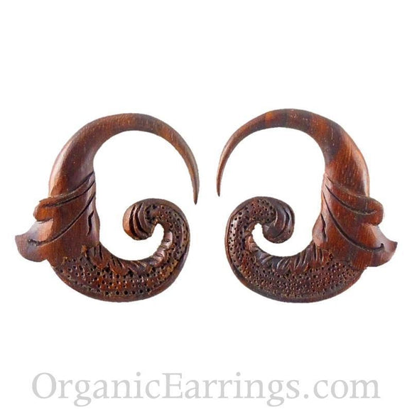 Wood Jewelry | Nectar Bird. 8 gauge Sono Wood Earrings. 1