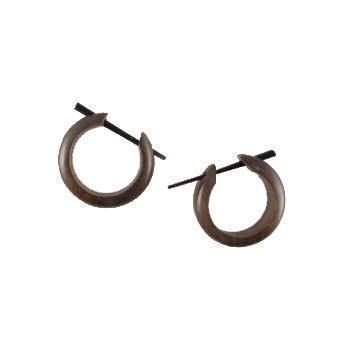 Wood Jewelry | Basic Hoop. Wood Hoop Earrings. Hibiscus Wood Jewelry.