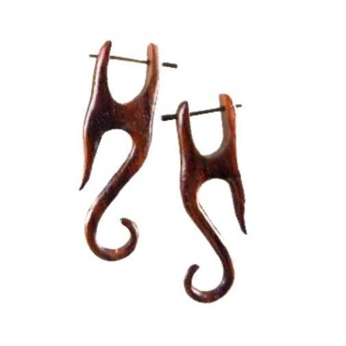 Wood Jewelry | Yogi. Wood Earrings. Natural Sono, Handmade Wooden Jewelry.