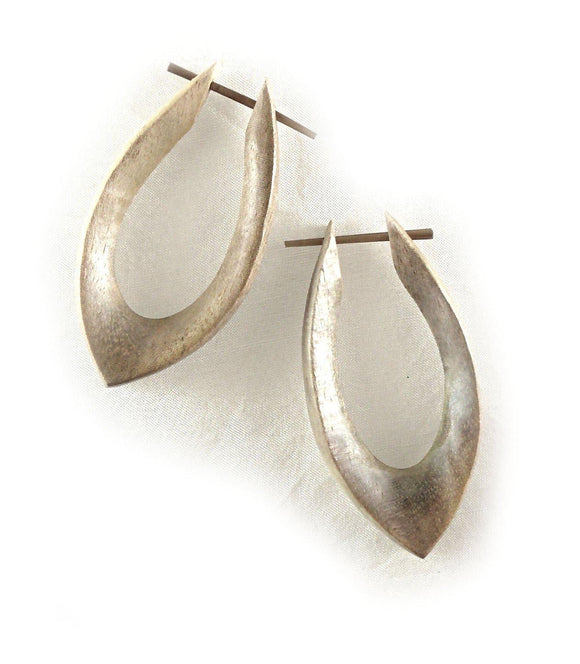 Natural Jewelry | Shakti Hoops. Hibiscus Wood, 7/8
