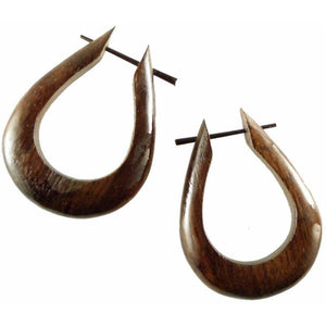 Natural Jewelry | Tahoe Hoops. Wooden Earrings, sono. 1 1/4