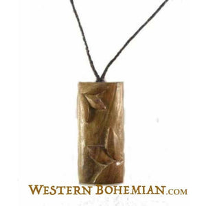 Wooden Jewelry | Bamboo. Wood Necklace. Sono Wood Jewelry.