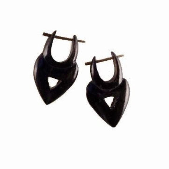 Sale and Clearance | Heart Drop. Areng Wood. Wooden Earrings & Natural Jewelry.