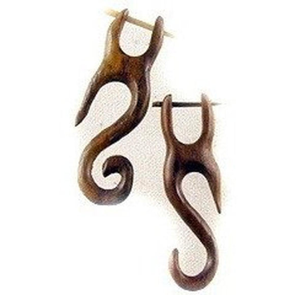 Wood Jewelry | Yogi. (off-size) sono wood earrings.