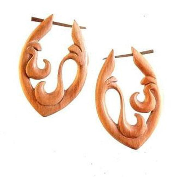 Natural Jewelry | Wooden Earrings. 1 1/8