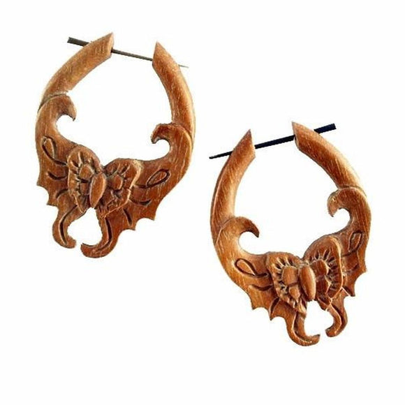 Butterfly Horn Earrings | Mariposa. Amber Horn Butterfly Earrings. 1 1/2