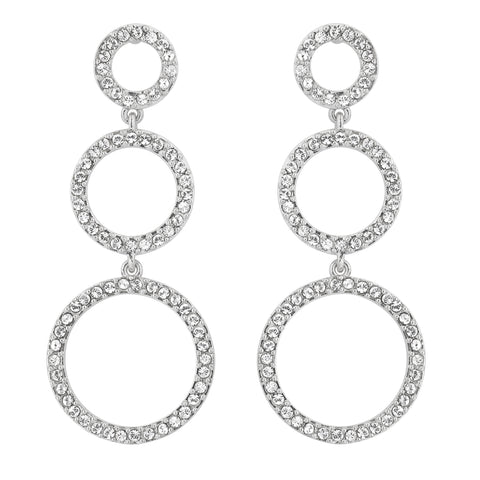 Three Circle Tiered Earrings
