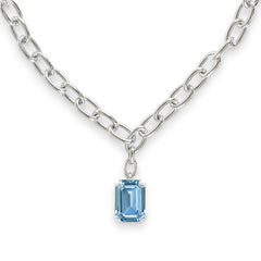 Emerald Cut Pendant Necklace