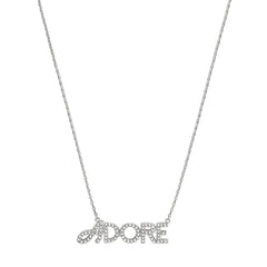 Pavé Logo Necklace