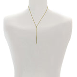 Pavé Bar Y Necklace - Crystal/Rhodium Plated