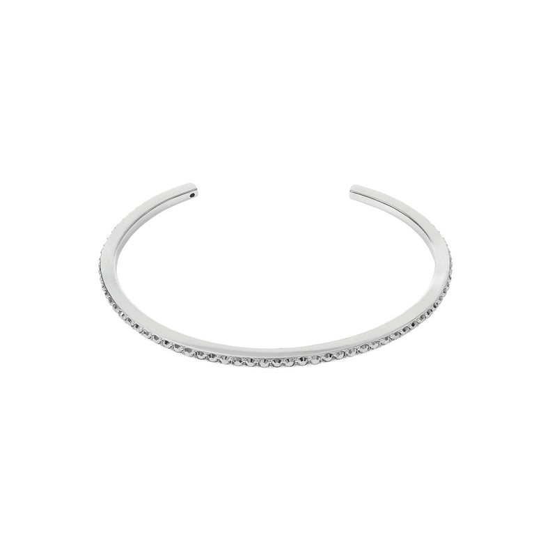 Skinny Pavé Bangle - Crystal/Rhodium Plated