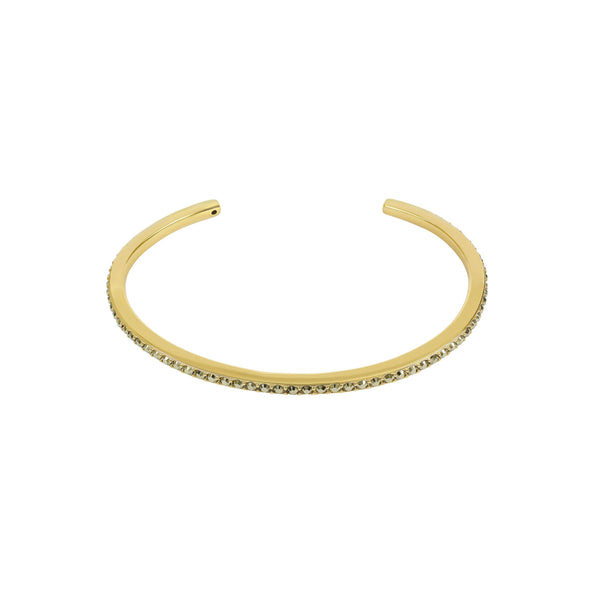 Skinny Pavé Bangle - Crystal/Gold Plated