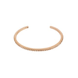 Skinny Pavé Bangle - Crystal/Rose Gold Plated