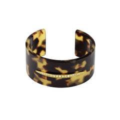 Resin Wide Cuff - Crystal/Mixed Resin/Gold Plated