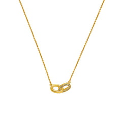 Oval Interlocking Link Necklace