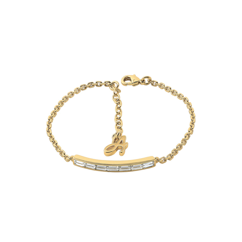 Baguette Bar Bracelet - Crystal/Gold Plated