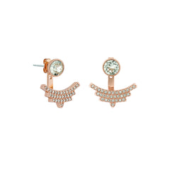 Pavé Arc Jacket Earrings - Crystal/Rose Gold Plated