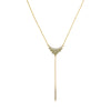 Pavé & Round Cluster Y-Necklace - Mixed Crystal/Gold Plated