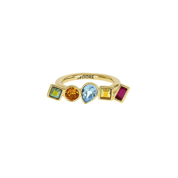 Mixed Crystal Ring - Mixed Crystals/Gold Plated