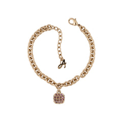 Pavé Cushion Bracelet - Lilac Shadow Crystal/Rose Gold Plated