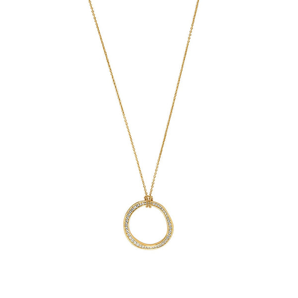 Organic Circle Long Necklace