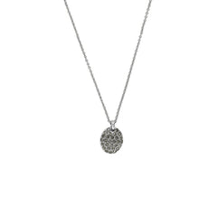 Pavé Oval Necklace - Crystal/Rhodium Plated
