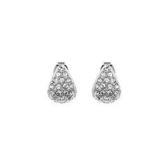 Pavé Triangle Earring - Crystal/Rhodium Plated