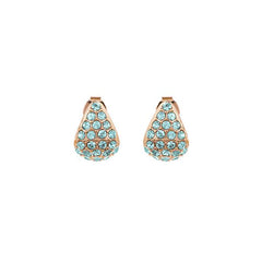 Pavé Triangle Earring - Indian Sapphire/Rose Gold Plated