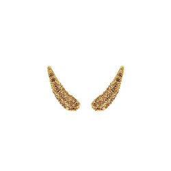 Pavé Swoop Earring Crawlers - Light Colorado Topaz/Gold Plated