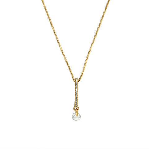 Linear Pavé & CZ Necklace