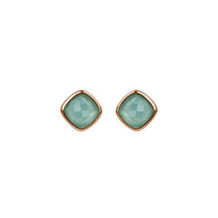 Cushion Stone Earring - Crystal/Rose Gold Plated