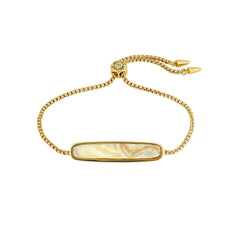 Resin Bar Slide Bracelet - Crystal/Gold Plated