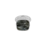 Resin Soft Square Ring - Crystal/Rhodium Plated