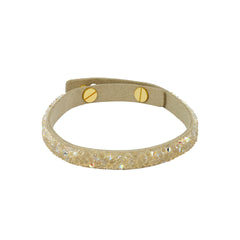 Skinny Fine Rock Bracelet - Crystal AB/Gold Plated