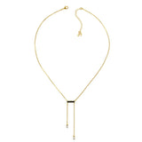 Baguette Bar Y-Necklace - Crystal/Gold Plated