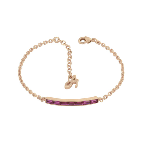 Baguette Bar Bracelet - Crystal/Rose Gold Plated