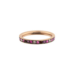 Organic Circle Stacking Ring- Crystal/Rose Gold Plated