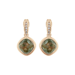 MOP Doublet Earring - Crystal/Rose Gold Plated