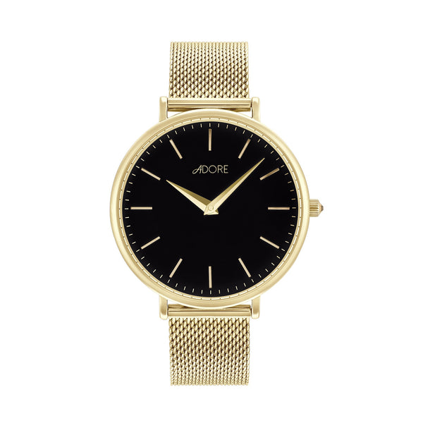 Shimmer 33mm Mesh Watch - Gold Plated / Swarovski® Crystal