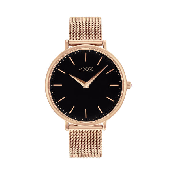 Shimmer 33mm Mesh Watch - Rose Gold Plated / Swarovski® Crystal