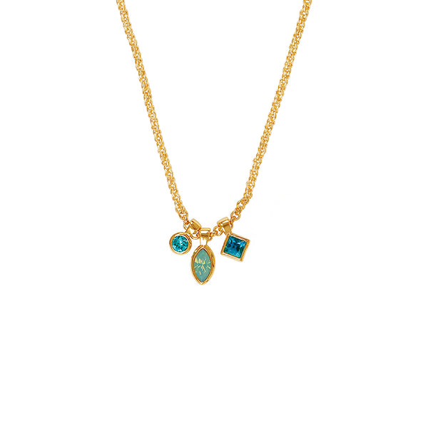 Adore Brilliance Crystal Charm Drop Necklace Detail