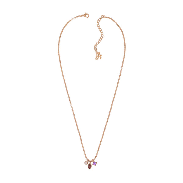 Adore Brilliance Crystal Charm Drop Necklace