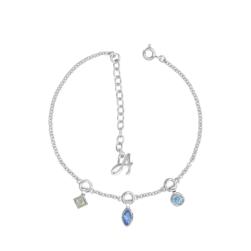 Adore Brilliance Crystal Charm Drop Line Bracelet Detail
