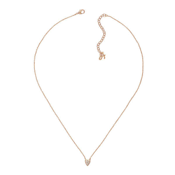 Adore Signature Mini Pavé Heart Necklace