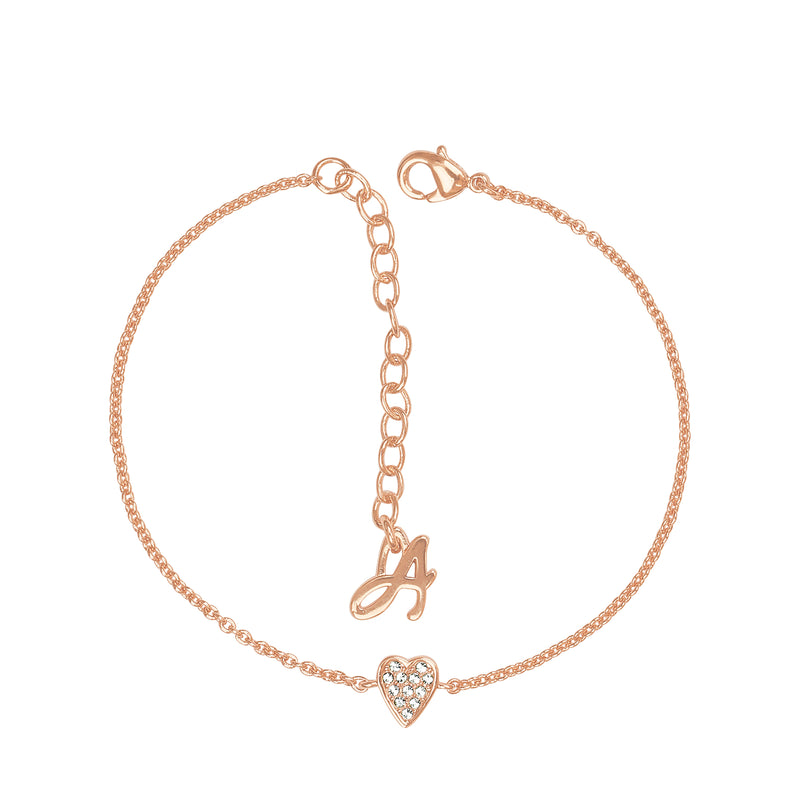 Adore Signature Mini Pavé Heart Bracelet Detail