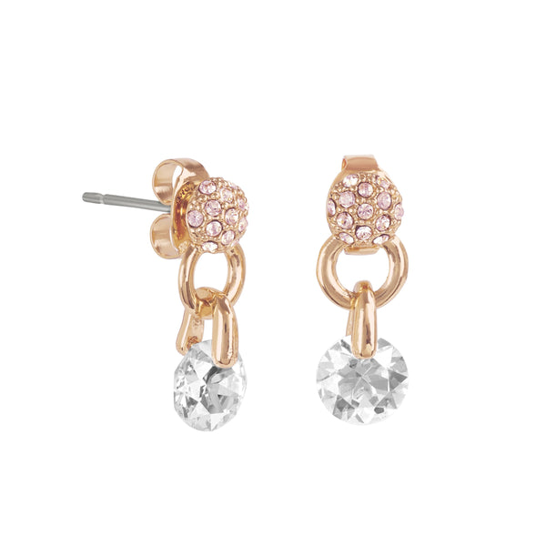 Adore Allure Pavé & Round CZ Earrings Detail
