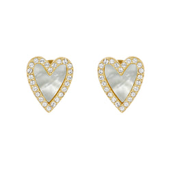 Adore Naturale Pavé Resin Heart Earrings Detail