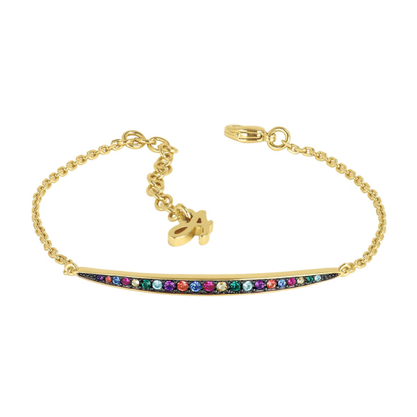 Adore Elegance Multi colour Curved Bar Bracelet Detail