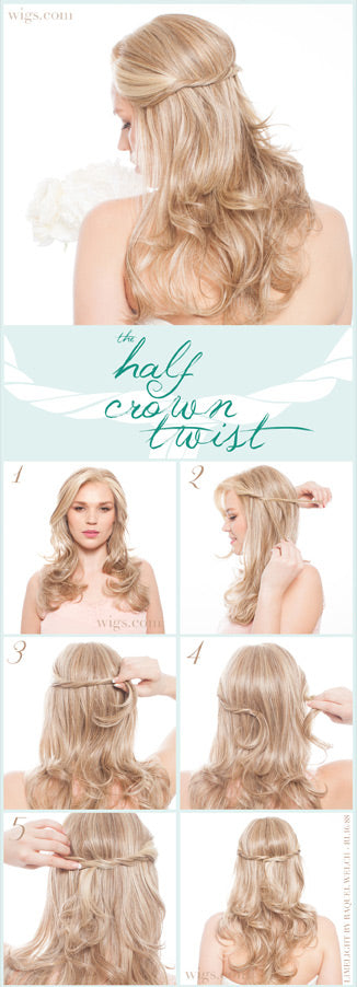 How to Create a Half Crown Twist